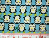"""Cute Penguins animal fabric - half yard - 5 colors to choose - cotton linen, Check out with code """"sale15"""" to save 15% off"""