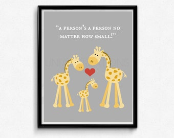 Baby's Room Art Print, Giraffe Graphic Design, Kids Wall Art, 8x10 Print, INSTANT DOWNLOAD