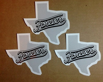 Texas Forever sticker 3-pack
