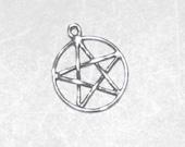 Sterling Silver Pentagram Pentacle Wiccan Jewelry P79