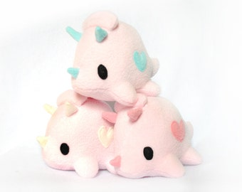Cotton Candy Pink Triceratops Dinosaur Plush
