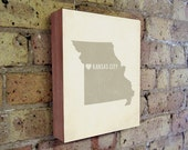 Kansas City Art Print - Kansas City - Kansas City Art - Kansas City Missouri - I Love Kansas City - Wood Block Art Print