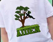 ZIPLINE Zip Line boy or girl T-shirt  personalized with name Tree tops