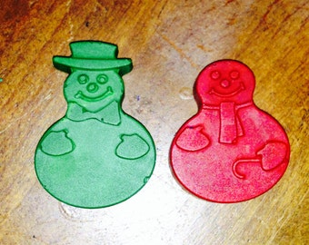 Snowman crayons set of two