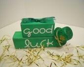 St. Patricks Word Block Stacker, Good Luck
