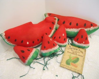 Watermelon Soft Sculpture, Set of 6