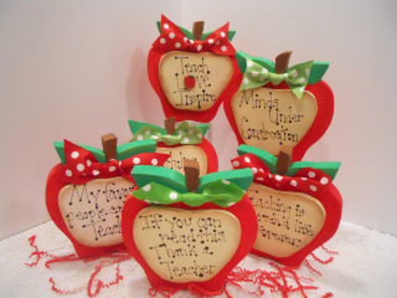 Teacher Apple Red Gift Appreciation, Made To Order