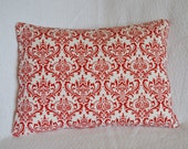 CLEARANCE: Red and White Premier Prints Damask Pillow Cover 12x16