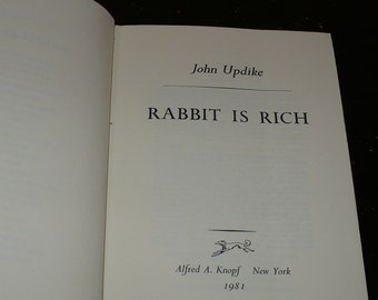 John Updike 'Rabbit is Rich' 1st Ed.1981   Books Movies Music, Books, Literature & Fiction, Pulitzer