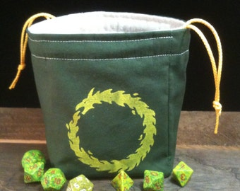 Coiled Serpent Dice Bag