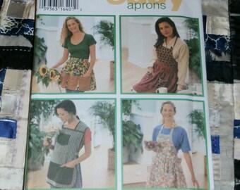 Cute Simplicity 1995 Craft Pattern 9333, Design Your Own Aprons, Size A S, M, L,Uncut