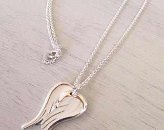 angel wings necklace angel wings pendant wings jewelry angel jewelry wings sterling silver necklace pendant