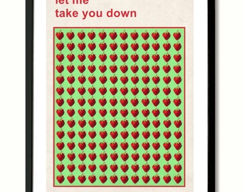 Beatles Strawberry Fields Forever inspired Art Print
