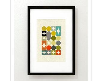PALETTE no.3 - Giclee Print - Mid Century Modern Danish Modern Minimalist Cubist Modernist Abstract