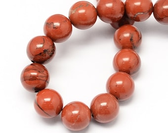 "20 Natural Stone Beads in a Great Burnt Umber Color -10mm (3/8"") - BD584"