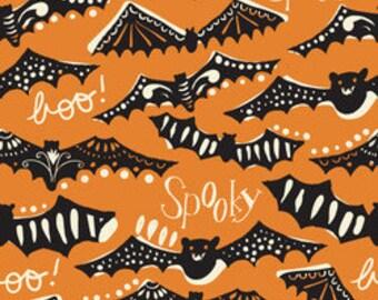 Halloween Fabric, Bat Fabric, Modern Fabric, Gone Spooky, Fabric by the Yard, Spooktacular Too, Blend Fabrics
