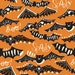 Halloween Fabric, Bat Fabric, Modern Fabric, Gone Spooky, Fabric by the Yard, Spooktacular Too, Blend Fabrics