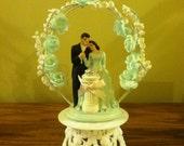 Vintage Bride and Groom Wedding Cake Topper Cake Decoration