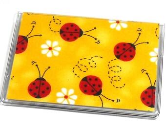 Card Case Mini Wallet Ladybugs