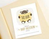 Personalized Bookplates, Baby Shower Bookplate // TEDDY READS