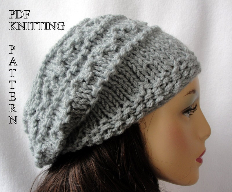 Baby Slouch Hat Knitting Pattern images