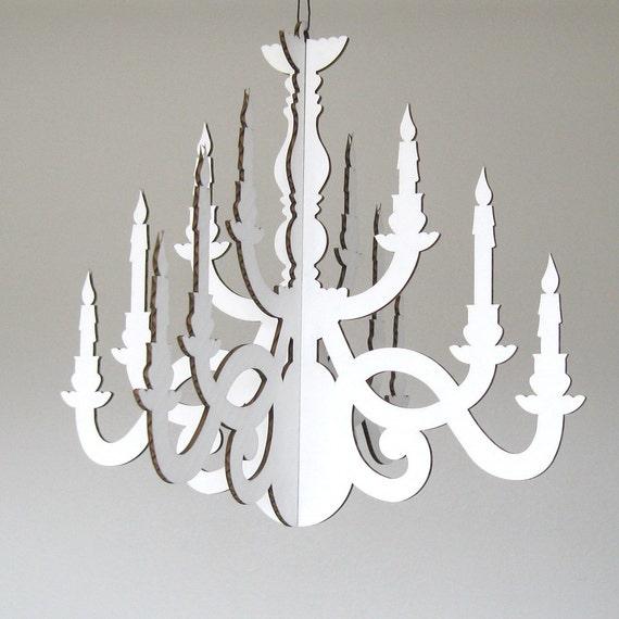 Mini white traditional chandelier cardboard chandelier - Build a chandelier ...