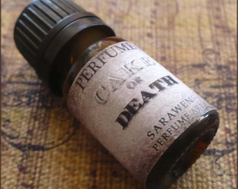 CAKE OR DEATH Perfume Oil /  Dark Cake Amber scent / Vegan Handcrafted perfume oil / Gothic perfume