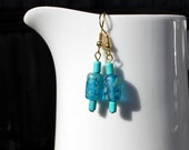 ocean blue and turquoise earrings