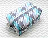 Large Box Bag, Travel Bag or Project Bag - Turquoise