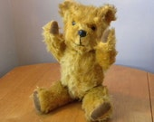 Vintage Mohair Bear - 1950's to 1960's Toy - English Teddy - 15 inch