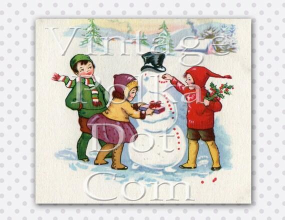 vintage snowman clipart - photo #23