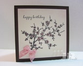 Beautiful Pink Cherry Blossom - Birthday Greeting Card