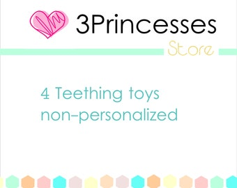 Baby wood teether teething combo pack your choice of any 4 in store - not personalized