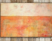 """Abstract Art Painting: 24x36 Abstract Art, Mixed Media Art, Contemporary Painting, Original Art, 2'x3' red, pink, orange, yellow """"Foliage"""""""