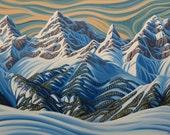 Sunshine, 8X10 Art Print, Canadian Artist, Ready To Frame