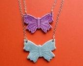 Butterfly Necklace Glazed Porcelain