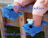 Whale Booties Crochet Pattern