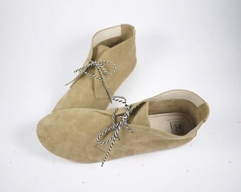 The Desert Mini Boots - Soft Suede Handmade Shoes