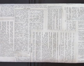 Tim Holtz Eclectic Fabric - Dictionary  - Back In Stock!