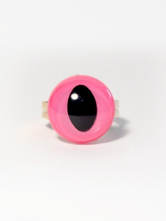 Pink Cat Eye Ring