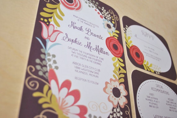 Wedding Invitations - Secret Garden - Digital File