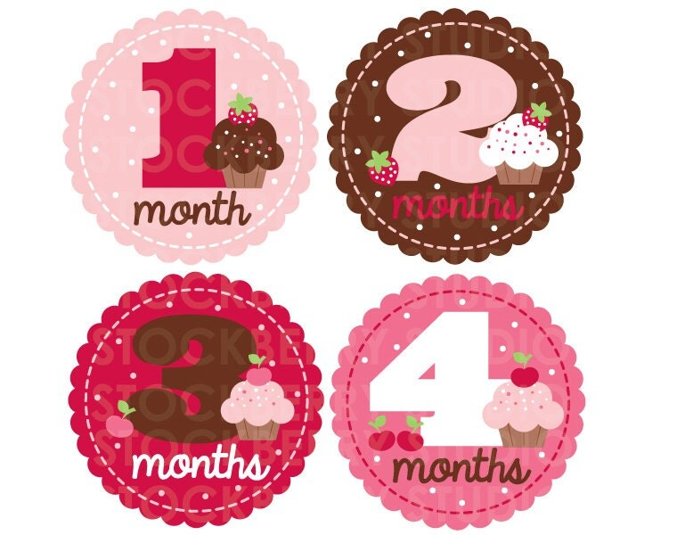 Current image with baby month stickers printable