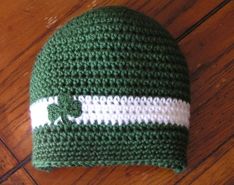 Irish Baby hat for Newborn to 18 month - Notre Dame Team colors