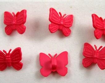 Fuscha Butterfly Buttons Set of Six