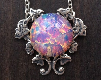 Light Fire Opal Necklace