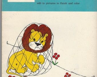 Whitman Creative Drawing Vintage Book, C1966