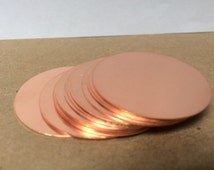 """FIFTEEN One-Inch 1 """" Copper disks for enameling or metal art"""
