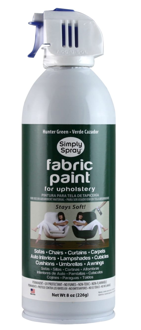 Simply Spray Upholstery Fabric Spray Paint Dries Soft Permanent Hunter Green 12 Pack From