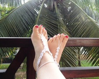 PDF Pattern White Shells Barefoot Sandals PDF Pattern instant download