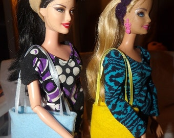 Accessory Set - 2 purses, 2 belts / headbands, 1 pair of shoes for Fashion Dolls - as4